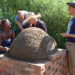 Cob Oven on Brick Base