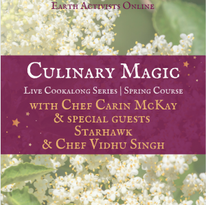 Culinary Magic with Chef Carin McKay + guests Starhawk & Chef Vidhu Singh @ Earth Activists Online