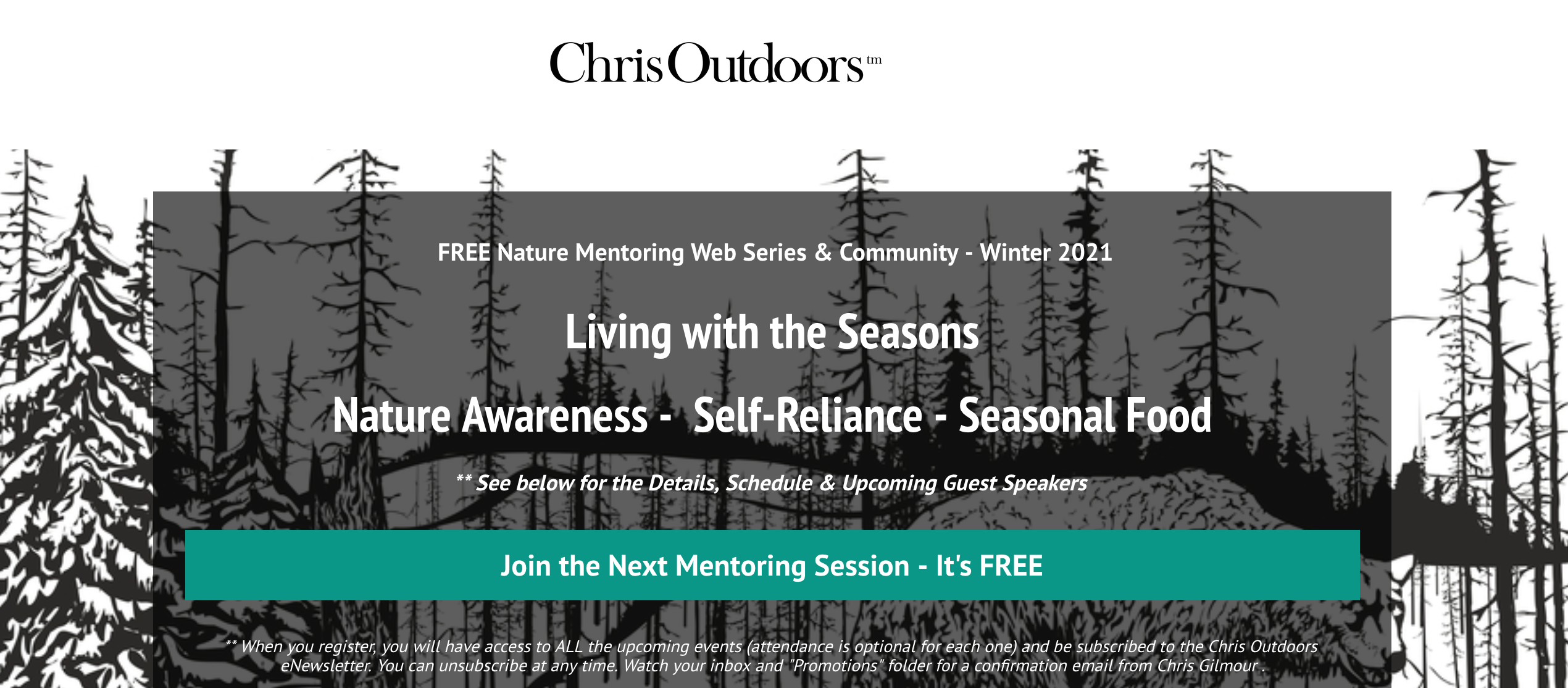 Living with the Seasons, Free Nature Call with special guests Starhawk & Charles Williams @ EAT Afffiliate ChrisOutdoors.ca
